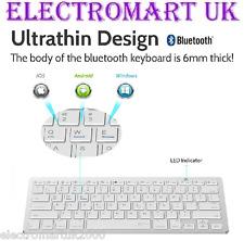 SLIMLINE ULTRA THIN WIRELESS BLUETOOTH COMPUTER PC SMART PHONE TABLET KEYBOARD