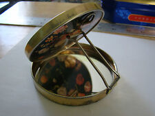 Vintage Ladies Fold Out Mirror Compact with Stand Floral Pattern 251628