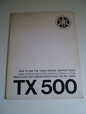 YAMAHA TX500 HOW TO USE SPECIAL  SERVICE TOOLS  MANUAL