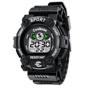 Multifunction Led Digital Sports Wrist Watch for Boys Girls Children Kids Gift
