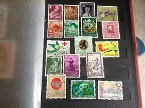 Liechtenstein Stamps -  Small Collection