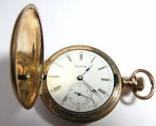 ANTIQUE 1903 LADIES ELGIN POCKET WATCH 0'S HUNTING CASE GOLD FILLED