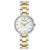 Bulova Women's Quartz Two-Tone Mother of Pearl Dial 27mm Watch 98L226