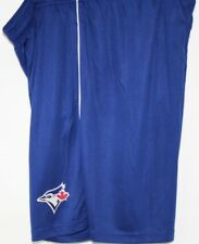 Mens Majestic MLB Toronto Blue Jays Blue Polyester Logo Baseball Shorts