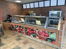 Subway Prep Counter Sandwich Prep Table with hot wells. 18'