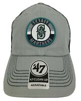 Seattle Mariners '47 Brand Clean Up Adjustable Hat - Logo Patch - NWT - Mesh