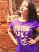 ESTES PARK, COLORADO Purple Ladies' 100% Cotton T-Shirt Size 2XL