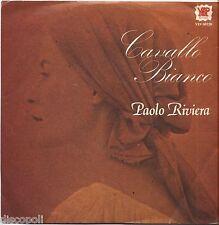 """PAOLO RIVIERA - Cavallo bianco - VINYL 7"""" 45 LP 1980 NEAR MINT COVER VG+"""
