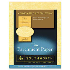 Parchment Specialty Paper, Gold, 24 lbs., 8-1/2 x 11, 100/Box