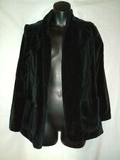 """70s Vintage Mod Preppy Black Velvet Jacket-The Villager Size 8-40"""" Bust Large"""