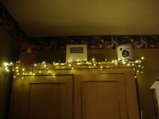 Country  6 ft. electric twig garland with white lights / Battery Operated
