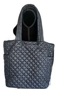 MZ WALLACE Travel Quilted Tote Bag Black
