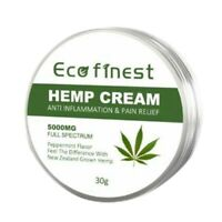 Eco Finest Hemp Cream Anti-Inflammation and Pain Relief Max Strength 5000Mg B3M9