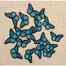 Blue Monarch Butterfly Patch Iron-On/Sew-On Embroidered Applique