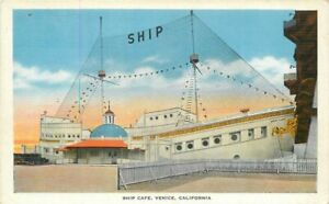 Kropp 1920s Ship Café Venice California Roadside  Postcard 20-14063
