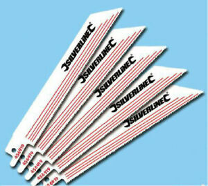 5 x Reciprocating Saber Saw Blades 18 TPI 150mm Alloy Metal Cutting PROMOTION