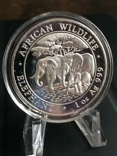 3 1 oz Somalia Silver Elephant BU Rounds (2013, 2015, and 2016)