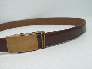 Mio Marino Collection Brown Leather Belt Mens Adjustable Size 30-44