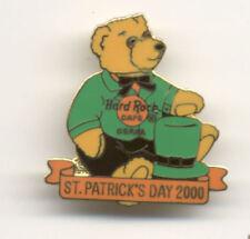Hard Rock Cafe Osaka Teddy Bear St Patrick's Day 2000 Pin