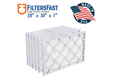 Filters Fast Brand 20x30x1 Hvac Air Filters Merv 8 Case of 6 Filters
