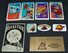 Rocketeer Movie Premiere 1991 Set Passport Pins x9 Items