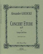 GOEDICKE CONCERT ETUDE Op49 Trumpet & Piano