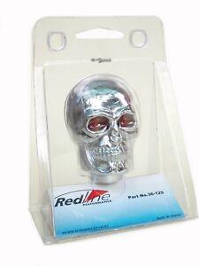 Redline Performance Universal Chrome Skull Manual Gear Shift Lever Knob Red Eye