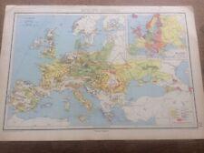 1942 Vintage John Bartholomew Atlas Map 14.75� Europe Economic