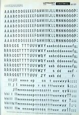LETRASET Rub On Letter Transfers  (#591) 6.9mm
