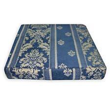 We204t Blue Damask Stripe Chenille 3D Box Shape Sofa Seat Cushion Cover*Size