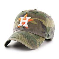 Houston Astros 47 Brand Clean Up Camo Adjustable On Field Cotton Hat Dad Cap