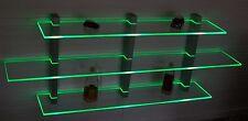 Design Wandboard LED rot handgeschliffen schwarz eloxiert