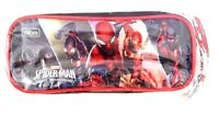 Marvel Comics Spider-Man Web-Warriors Boy's Triple Compartment Pencil Case NWT