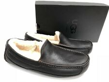 Ugg Australia Ascot China Té Zapatillas De Piel De Cuero Marrón para Hombre 5379 Mocasines
