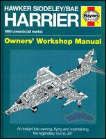HARRIER HAYNES MANUAL BOOK HAWKER SIDDELEY BAE V/STOL AV16 RAF AV8 USMC FIGHTER