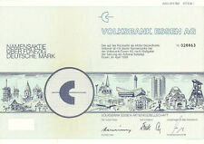 Volksbank Essen AG Aktie Namensaktie 50 DM 1989 WKN 811760 Share Shares