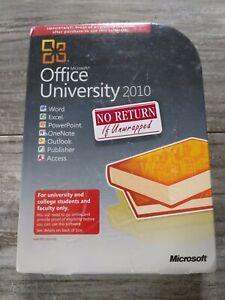 New Sealed Microsoft Office University 2010