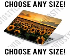 Sunset Sunflower Meadow Field Laptop Skin Decal Sticker Tablet Skin Vinyl Cover