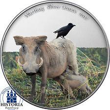 Afrika Serie Kamerun 1000 Francs 2017 Warzenschwein Silber Unze in Farbe
