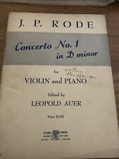 Jp Rode Concerto In D Minor For Violin And Piano Copyright Mcmxxxi