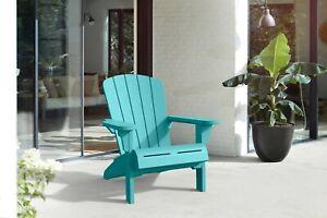 Adirondack Chair Resin Outdoor Furniture TEAL Weatherproof Patio PoolSide Garden