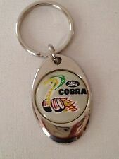 Ford Cobra Keychain Lightweight Metal Shiny Chrome Style Finish key chain