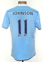 MANCHESTER CITY 2011/2012 HOME FOOTBALL SHIRT UMBRO #11 JOHNSON SIZE M ADULT
