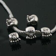 10pcs Tibetan Silver face spacer Beads Fit European charm Bracelet  L0030