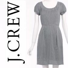 $98 J Crew Factory Cap Sleeve Pocket Pinstriped Silk Cotton Dress Sz 14