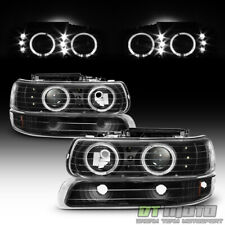 1999-2002 Chevy Silverado 00-06 Suburban Led Halo Headlights Bumper Signal Lamps