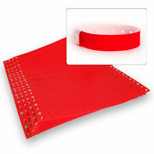 Plastic Wristbands Neon Red 100 Count- For Club, Event, Parties, Identification