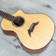 Breedlove Custom Concert CE Acoustic-Electric Guitar, Sitka Spruce Quilt Bubinga