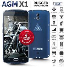 "Unlocked AGM X1 Blue 5.5"" Phablet Dual SIM Octa Core IP68 4G Rugged Smartphone"