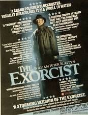 THE EXORCIST PHOENIX THEATRE LONDON FULL PAGE ADVERT WILLIAM PETER BLATTY